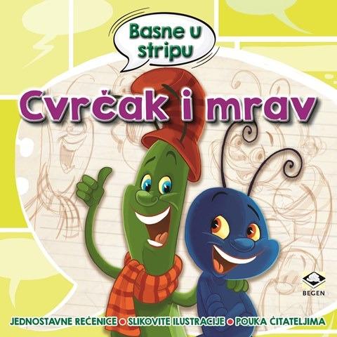 Basne u stripu - CVRČAK I MRAV