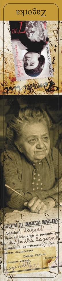 Marija Jurić Zagorka-bookmarker